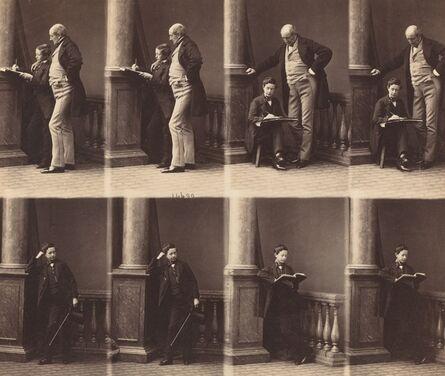 André Adolphe-Eugené Disdéri, 'Monsieur Jadin and Son', ca. 1860