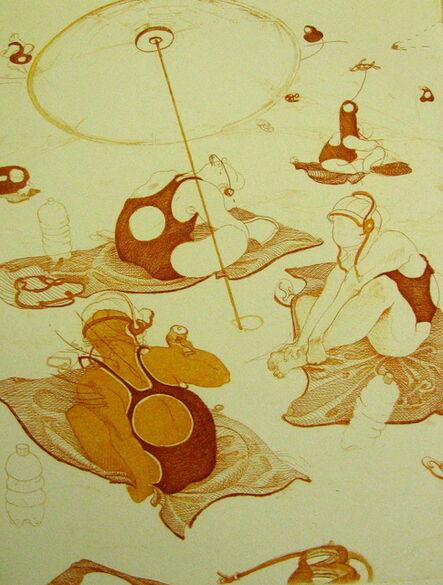 Inka Essenhigh, 'Beach Scene', 2001
