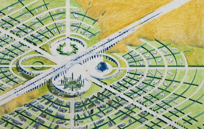 Mark Mack, 'Utopian California Community, Mobile Homes Park, Colored Overview', 1976