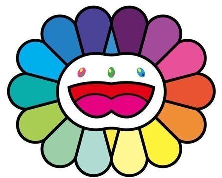 Takashi Murakami, 'Multicolor Double Face (White)', 2020