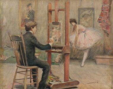 Arthur Clifton Goodwin, 'Louis Kronberg in his Studio'