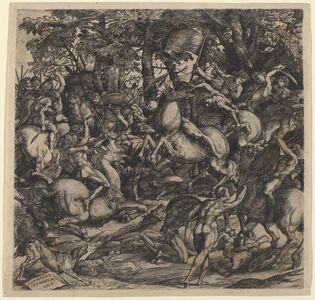 Domenico Campagnola, 'Battle of Nude Men', 1517