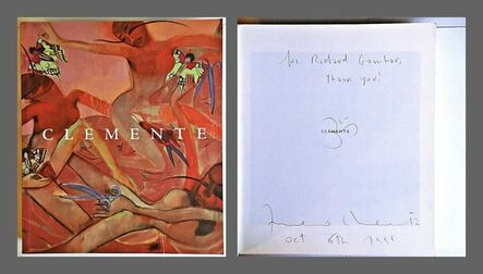 Francesco Clemente, 'Clemente (Hand Signed by Francesco Clemente and inscribed with a drawing)', 1998