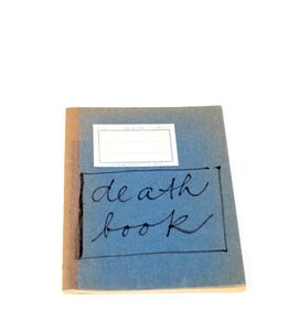 Jiří Valoch, 'death book', Undated ca. 1970