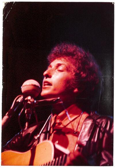 Bob Gruen, 'Bob Dylan. Newport Folk Festival, Newport, RI 1965 Very rare vintage print', 1965