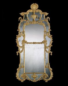 John Linnell, 'A GEORGE III CARVED GILTWOOD MIRROR ATTRIBUTED TO JOHN LINNELL', ca. 1770