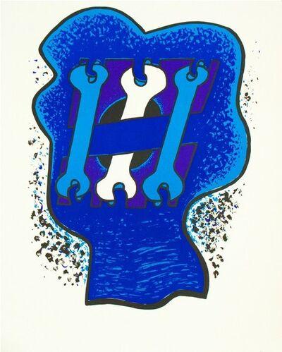 Sorel Etrog, 'Key Head, Three Blues', 1969