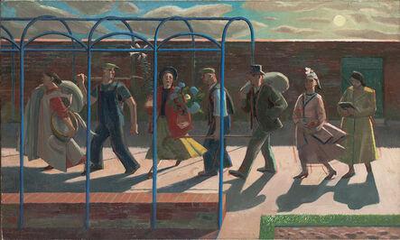 Evelyn Dunbar, 'Seven Days, inscribed on stretcher 'Design for mural'', 1939