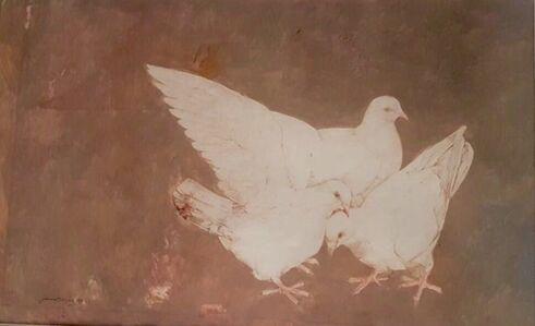 Jamil Naqsh, 'Three Pigeons ', 1982
