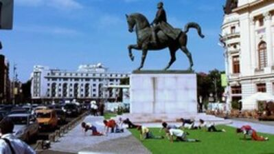 Maria Alexandra Pirici, 'Soft Power - Sculptural Additions to Petersburg Monuments', 2014