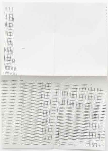 Sue Tompkins, 'Untitled (Text reads: Phoon)', 2012