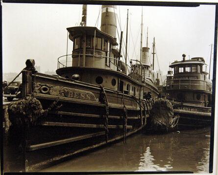 Berenice Abbott, 'Tugboats, Pier 11, East River, Manhattan', 1936