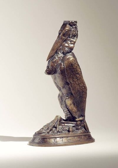 Emmanuel Fremiet, 'Marabou Stork Candlestick', ca. 1850