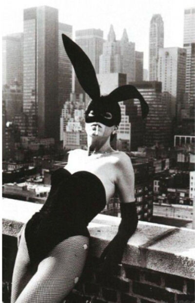 Helmut Newton, 'Elsa Peretti in Halston Bunny Costume, New York', 1975