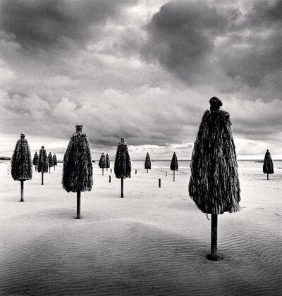 Michael Kenna, 'Thirteen Beach Umbrellas, Montesilvano, Abruzzo, Italy', 2016