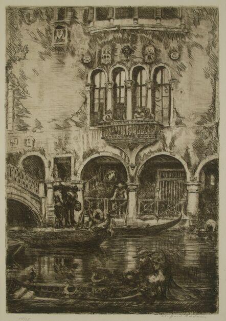 Clifford Isaac Addams, 'Venice, A Cardinal's Palace', ca. 1914