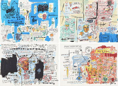 Jean-Michel Basquiat, 'Olympic, Ascent, Liberty, Leeches (Set of four)', 2017