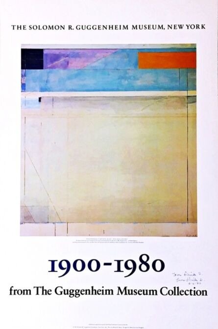 Richard Diebenkorn, '1900 - 1980 from the Guggenheim Collection (Hand Signed and inscribed by Diebenkorn)', 1980