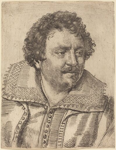 Ottavio Leoni, 'A Man with a Moustache and Goatee, Facing Right', 1620s