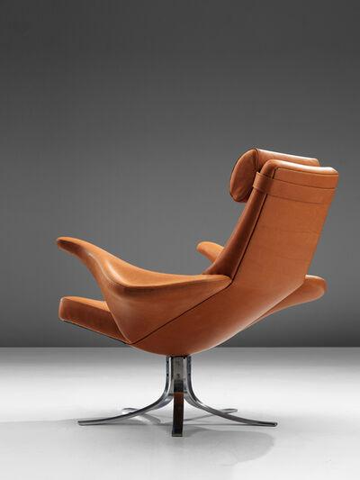 Gösta Berg, 'Rare Reupholstered 'Seagull' 9601 Chair and Ottoman by Gösta Berg & Eriksson', 1968