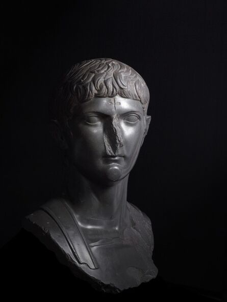 'Bust of Germanicus, great-nephew of Augustus with a Christian cross carved onto the forhead', c. 14-20 AD