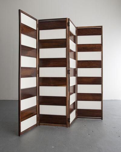 Joaquim Tenreiro, 'Screen in jacaranda and white lacquered wood panels', ca. 1953