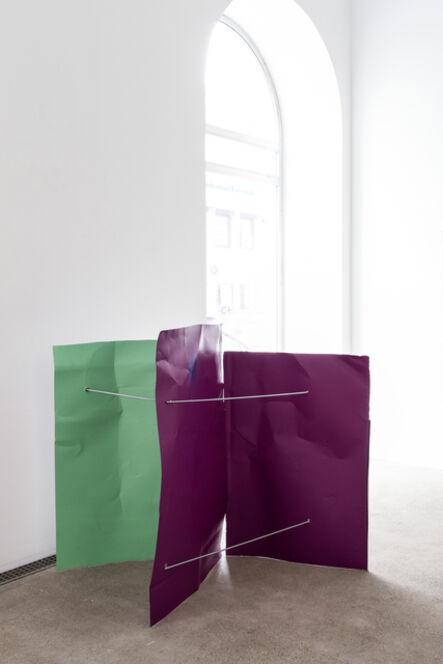 Michael Kienzer, 'Weißgrün/Signalviolett/Signalviolett (Flyer 3-teilig)', 2016-2018