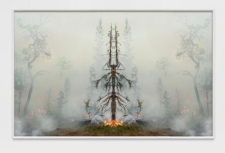 Julius von Bismarck, 'Fire with Fire (Test Apparatus #6)', 2021