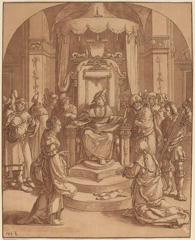 Cornelis Ploos van Amstel and Cornelis Brouwer after Lucas van Leyden, 'The Judgment of Solomon', 1782
