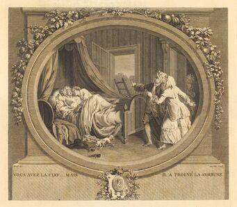 Jean-Louis Anselin after Antoine Borel, 'Vous avez la clef, mais il a trouve le serrure'