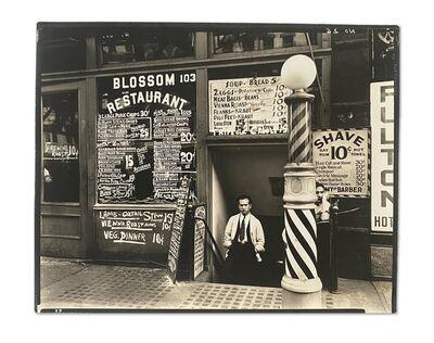 Berenice Abbott, 'Blossom Restaurant, 103 Bowery, Manhattan; October 24', 1935