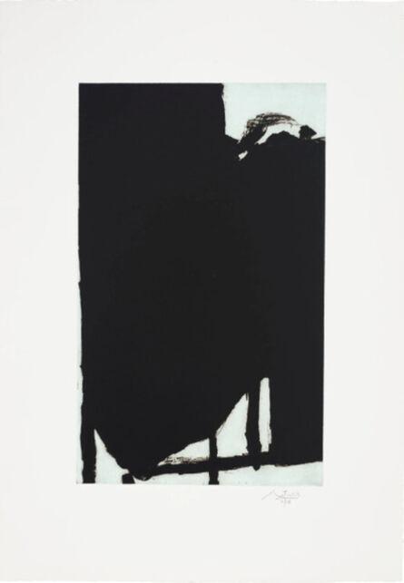 Robert Motherwell, 'Elegy Fragment I', 1985