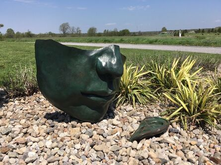 Marlene Hilton Moore, 'Head to Ear 2 - large, figurative, narrative, bronze outdoor sculpture', 1995