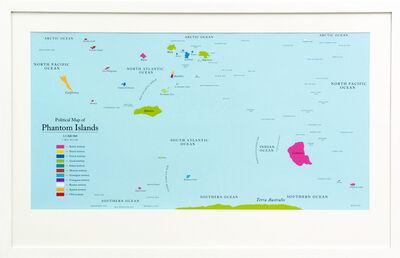 Agnieszka Kurant, 'Political Map of Phantom Islands', 2011