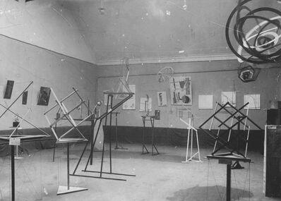 Karl Ioganson, 'View of Second Spring Exhibition of the OBMOKhU. Bolshaia Dimitrovska, Moscow', 1921