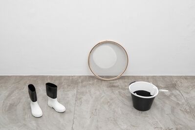 Cinthia Marcelle, 'Excedente [bucket, roll, boots, sieve]', 2015