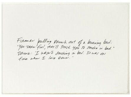 Richard Prince, 'The Greeting Card Jokes #1: The Fireman', 2011