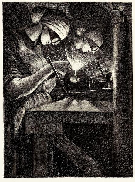 Christopher Richard Wynne Nevinson, 'Acetylene Welder', 1917