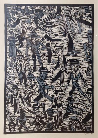 Antonio Seguí, 'Gente en la calle I', 1991