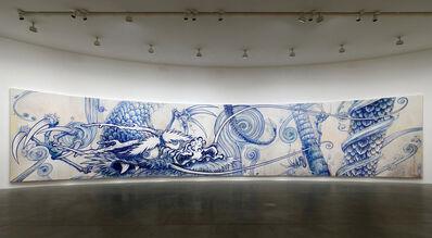 Takashi Murakami, 'Dragon in Clouds - Indigo Blue', 2010