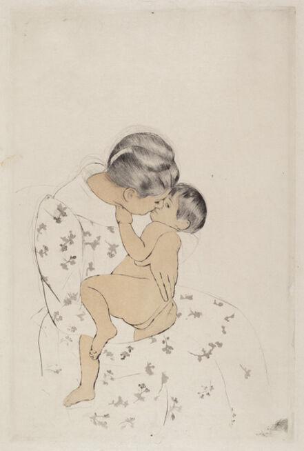 Mary Cassatt, 'Mother's Kiss', ca. 1891