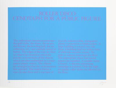 Robert Morris (b. 1931), 'Roller Disco: Cenotaph for a Public Figure', 1980