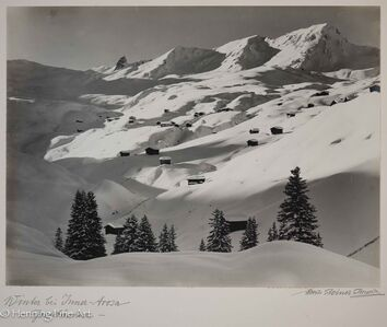 "Albert Steiner, '""Winter bei Inner-Arosa - Graubunden -.""  (""Winter at Inner-Arosa - Graubunden -."")', 1925-1950"