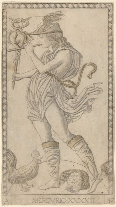 Master of the E-Series Tarocchi, 'Mercurio (Mercury)', ca. 1465