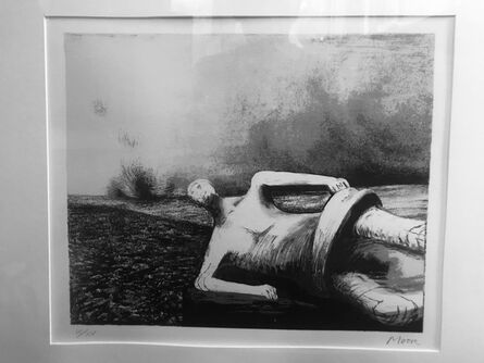 Henry Moore, 'reclining figure', ca. 1985