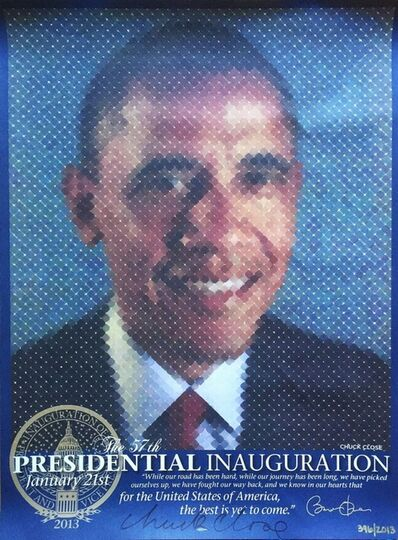 Chuck Close, 'The Presidential Inauguration (Hand Signed)', 2013