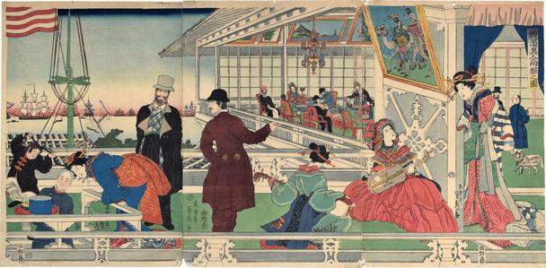 Utagawa Sadahide, 'Home of a Foreign [American] Merchant in Yokahama', 1861