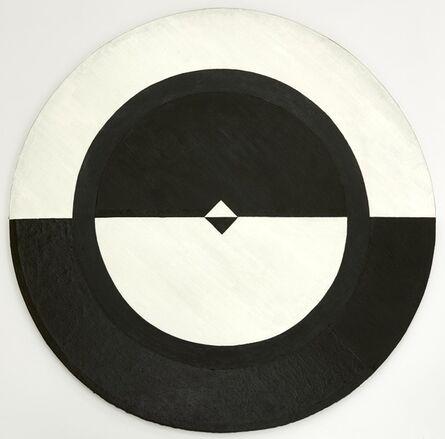 Carmen Herrera, 'Tondo: Black and White II', 1959