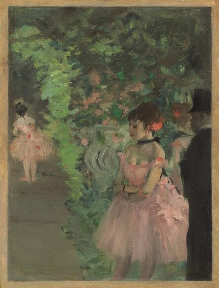 Edgar Degas, 'Dancers Backstage', 1876