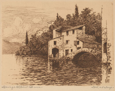 George Elbert Burr, 'On Lake Como', probably c. 1900
